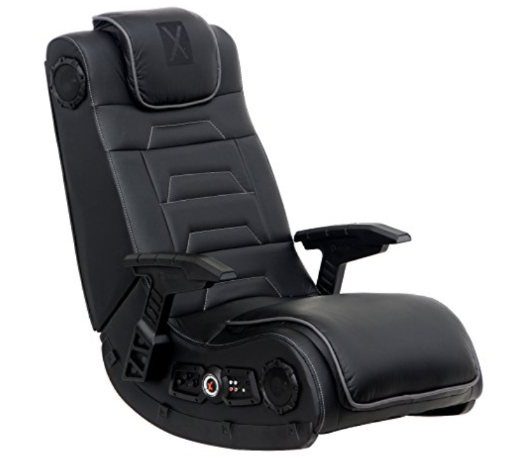 X Rocker Pro Series H3 Vibrating Floor Video Gaming Chair with Headrest