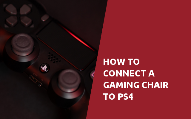 how to connect a gaming chair to ps4